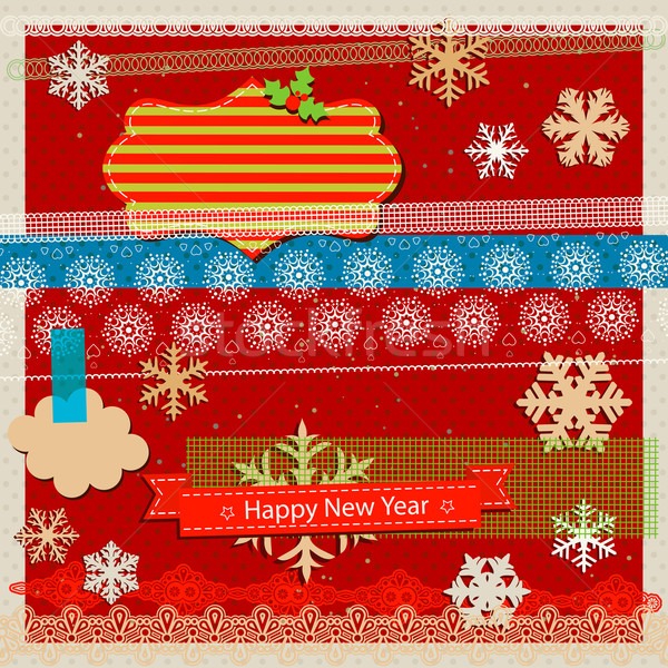 winter holidays scrapbook kit Stock photo © dip