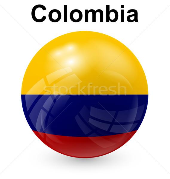 Colombia bal vlag officieel knop wereld Stockfoto © dip