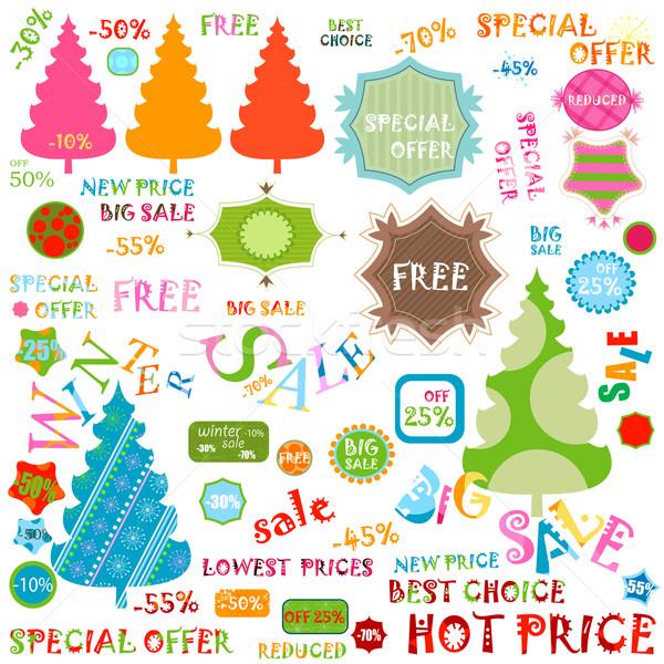 Inverno venda conjunto negócio abstrato projeto Foto stock © dip