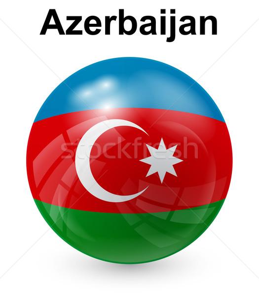 Азербайджан официальный флаг дизайна Мир знак Сток-фото © dip