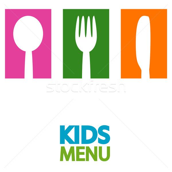 Stok fotoğraf: çocuklar · menü · dizayn · örnek · çocuklar · okul