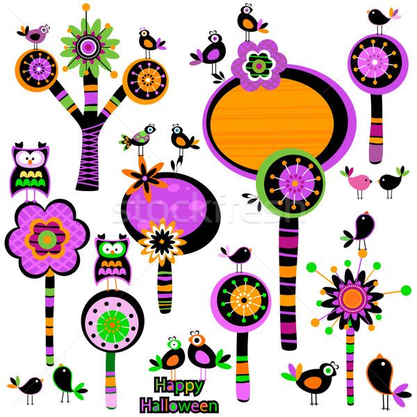 Halloween whimsy flowers Stock photo © dip