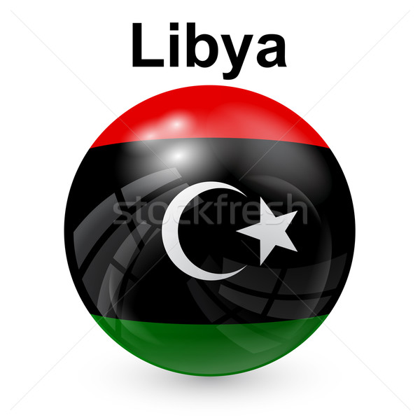 Líbia bola bandeira projeto África cor Foto stock © dip