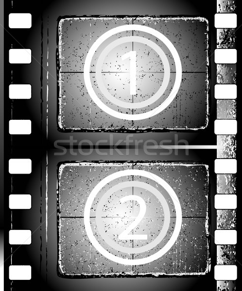 Filmstrip oude grunge film achtergrond Stockfoto © dip