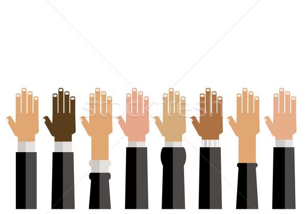 Diversidade ilustração mãos projeto cartão Foto stock © dip