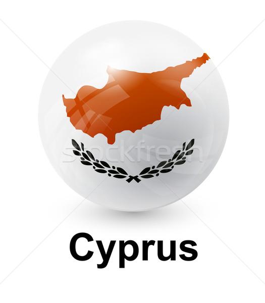 Cyprus vlag licht wereld teken groene Stockfoto © dip
