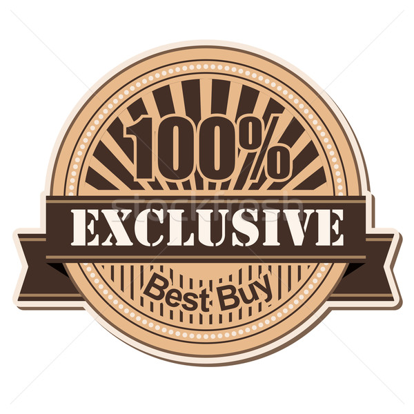 Etichetă exclusiv epocă stil proiect afaceri Imagine de stoc © dip