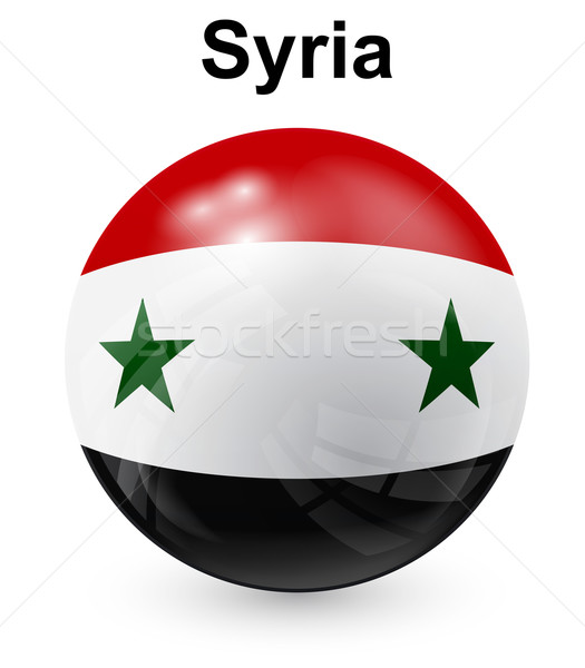 syria official state flag Stock photo © dip