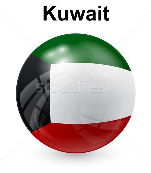 Kuweit oficial bandeira projeto mundo assinar Foto stock © dip
