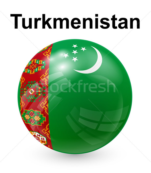 turkmenistan official state flag Stock photo © dip