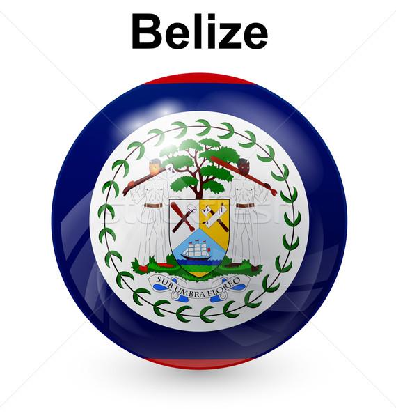 Belize labda zászló hivatalos gomb világ Stock fotó © dip