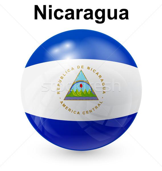 Nicarágua bola bandeira oficial botão mundo Foto stock © dip