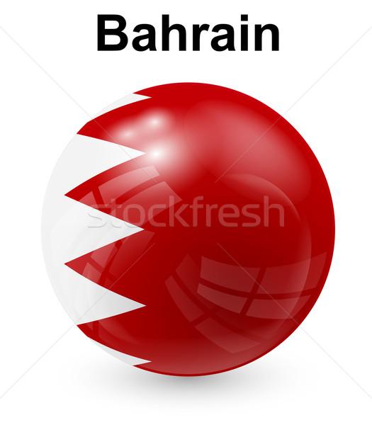 Bahrain ufficiale bandiera design mondo vetro Foto d'archivio © dip