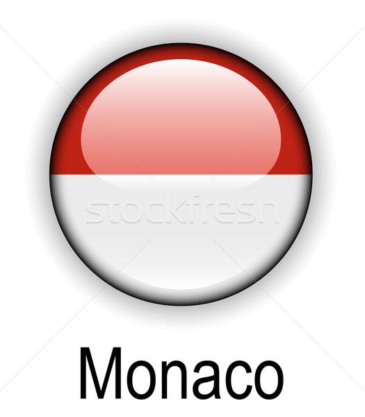 Monaco officieel vlag ontwerp wereld glas Stockfoto © dip