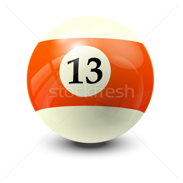 billiard ball 13 Stock photo © dip