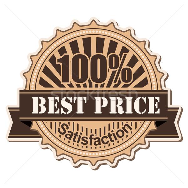 Etiqueta melhor preço vintage estilo projeto negócio Foto stock © dip