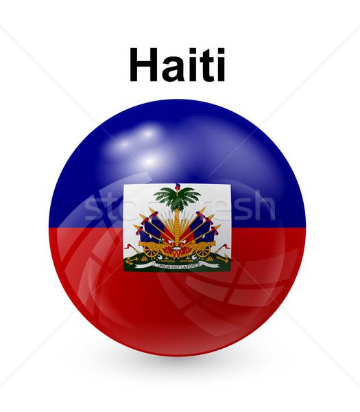 Haiti bayrak resmi düğme top dünya Stok fotoğraf © dip