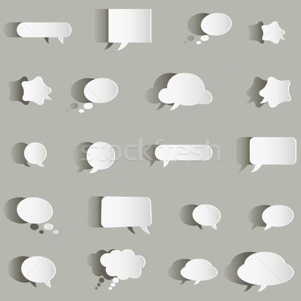 Papier bulles discours design fond communication Photo stock © dip