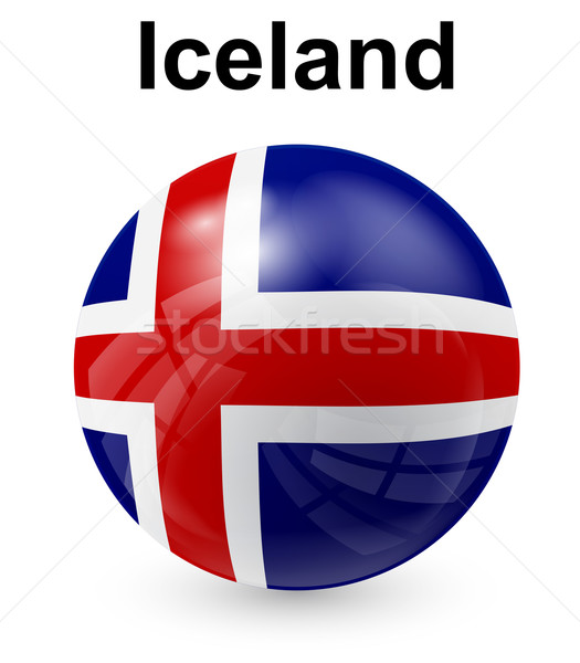 iceland official state flag Stock photo © dip