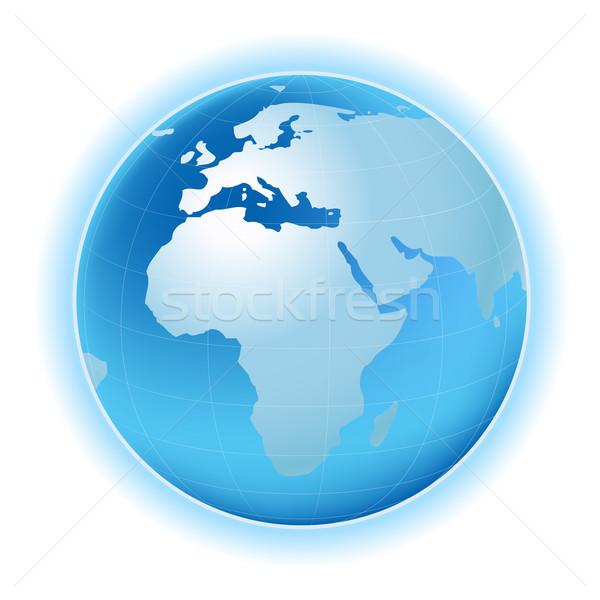 Pianeta mappa pianeta terra sei mondo mondo Foto d'archivio © dip