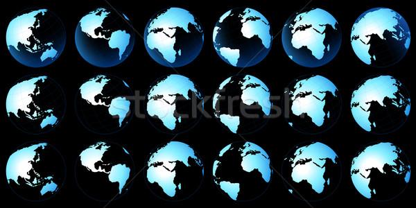 Planeta mapa planeta tierra seis mundo mundo Foto stock © dip