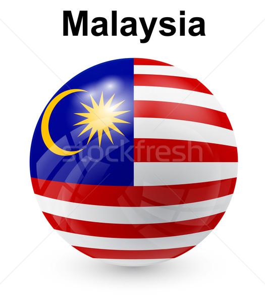 Malaysia offiziellen Flagge Sonne Design Welt Stock foto © dip