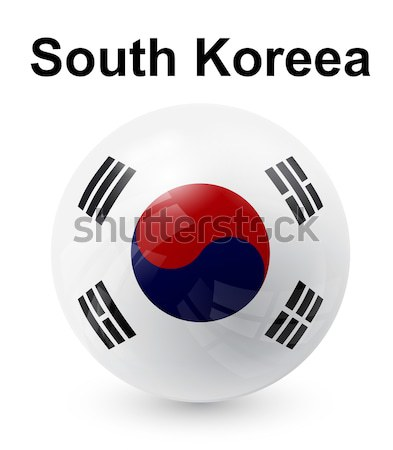 south koreea official state flag Stock photo © dip