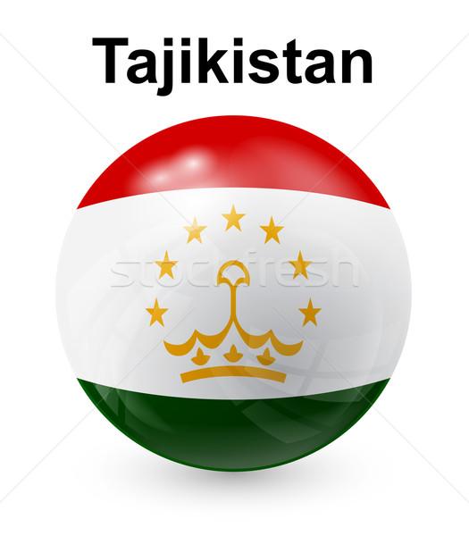 Tagikistan ufficiale bandiera design mondo segno Foto d'archivio © dip