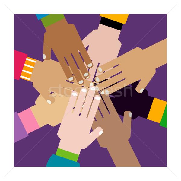 diversity hands together Stock photo © dip