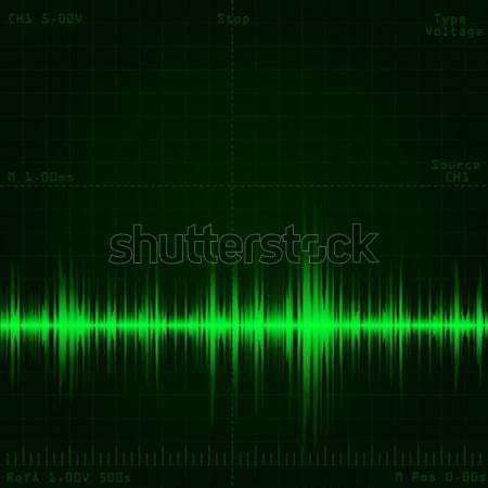 Schallwelle Signal Bildschirm Licht Design Stock foto © dip