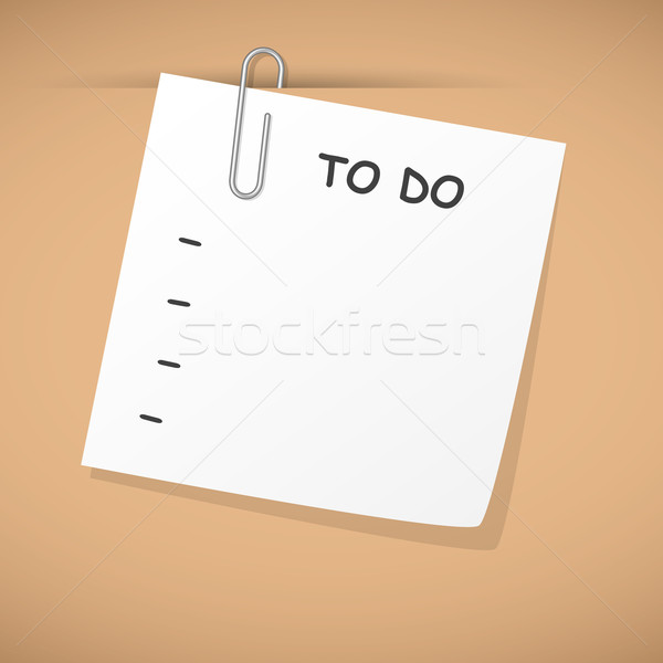 To do list lege opknoping karton ontwerp achtergrond Stockfoto © dip