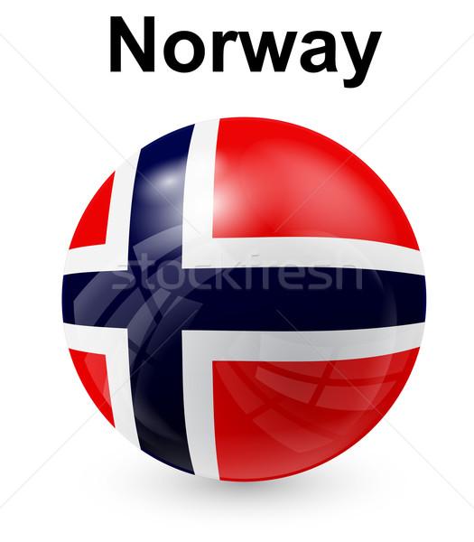 Noorwegen officieel vlag ontwerp wereld teken Stockfoto © dip