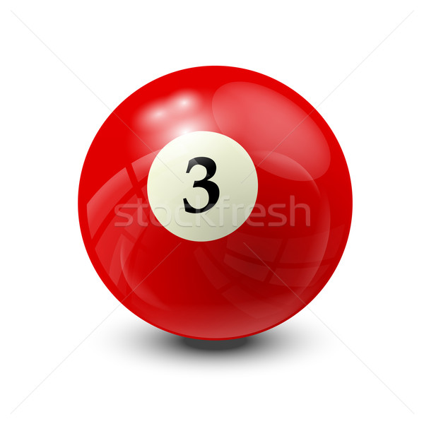 billiard ball 3 Stock photo © dip