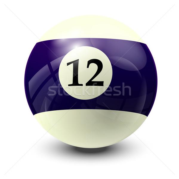Biliárd labda 12 valósághű vektor terv Stock fotó © dip
