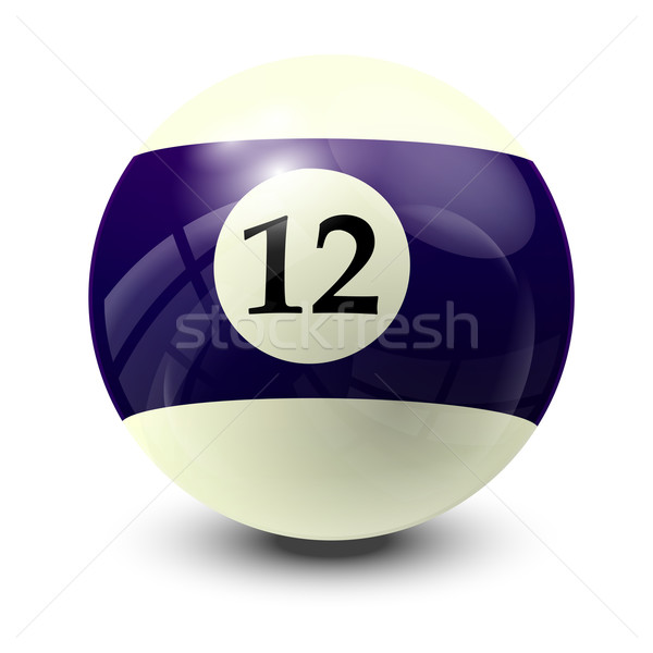 billiard ball 12 Stock photo © dip