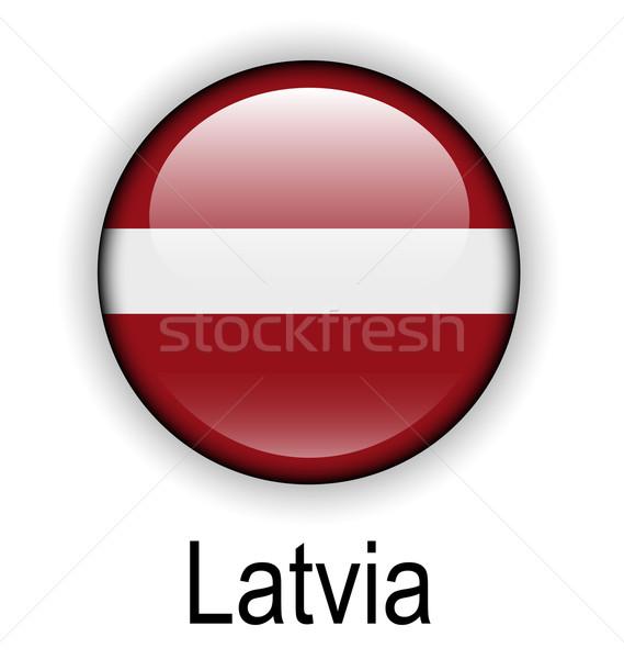 Letland vlag ontwerp teken bal Rood Stockfoto © dip