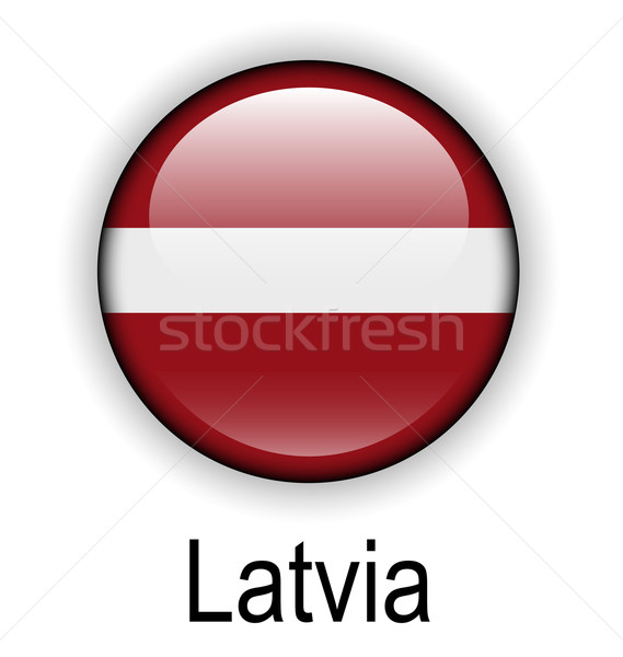 Латвия флаг дизайна знак мяча красный Сток-фото © dip