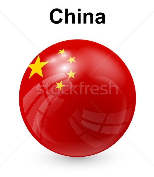 china official state flag Stock photo © dip