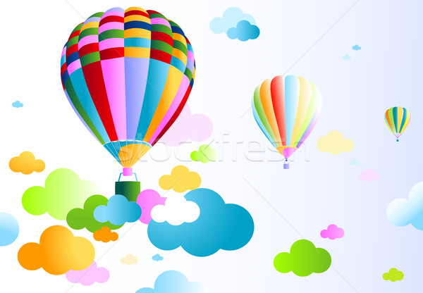 sky with air balloon Stock photo © dip