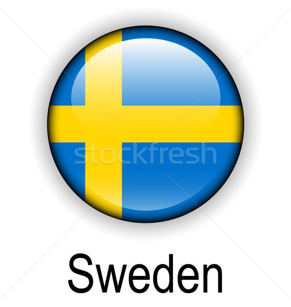 Швеция флаг дизайна крест знак синий Сток-фото © dip