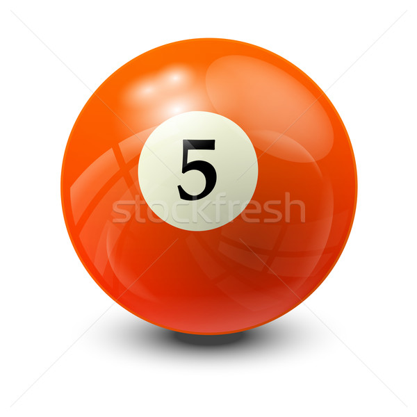 billiard ball 5 Stock photo © dip