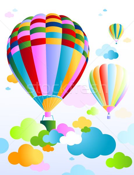 sky with air balloon Stock photo © dip