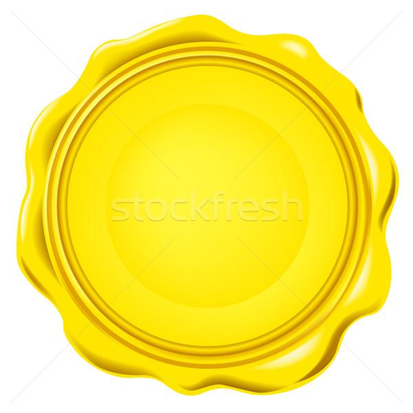 Vecteur cire sceau fond rétro document Photo stock © dip