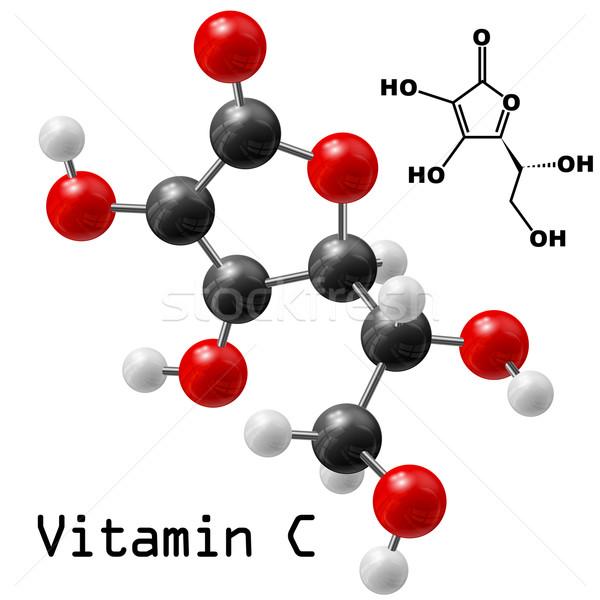C vitamin modell terv egészség háttér oktatás Stock fotó © dip