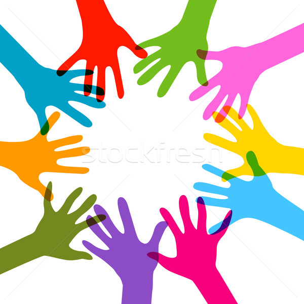 Mains ensemble pas transparence effets enfants Photo stock © dip