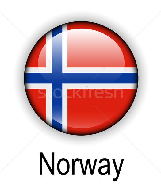 Norvegia ufficiale bandiera design mondo segno Foto d'archivio © dip