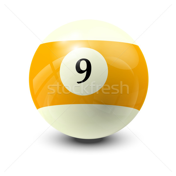 billiard ball 9 Stock photo © dip