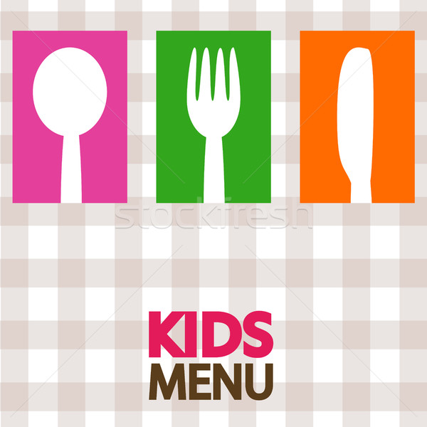 Сток-фото: дети · меню · дизайна · иллюстрация · детей · школы