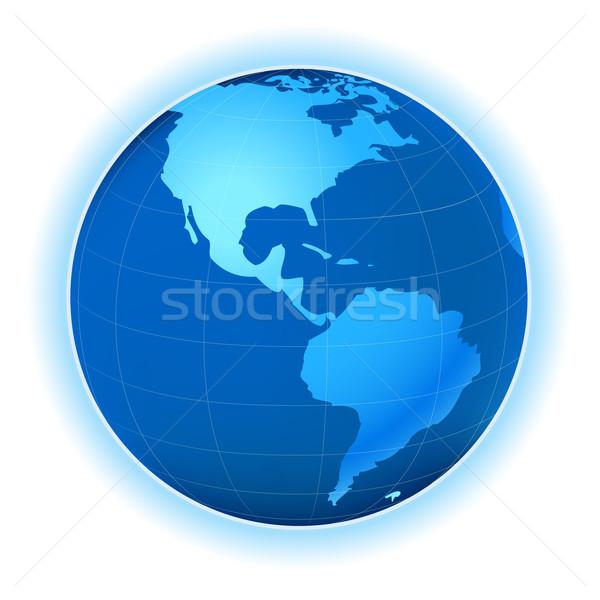 Planeta mapa planeta terra seis globo mundo Foto stock © dip