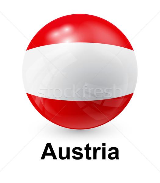 Áustria bandeira luz mundo assinar bola Foto stock © dip